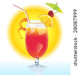 tequila sunrise cocktail | Shutterstock .eps vector #28087999