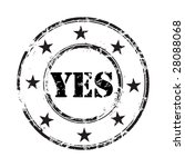 yes grunge rubber stamp... | Shutterstock .eps vector #28088068