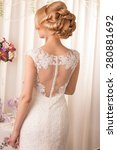 beautiful and fashion bride in...   Shutterstock . vector #280881692
