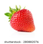 strawberry isolated on the... | Shutterstock . vector #280882076