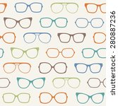 vector glasses seamless pattern | Shutterstock .eps vector #280887236