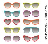 vector sunglasses  color... | Shutterstock .eps vector #280887242