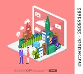 flat design concept the city... | Shutterstock .eps vector #280891682
