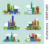 building icon set concept for... | Shutterstock .eps vector #280891685