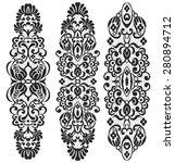 vector set vintage ornate... | Shutterstock .eps vector #280894712