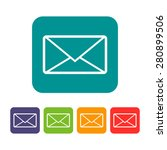 colorful set of envelope mail... | Shutterstock .eps vector #280899506