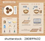 how to make home made cookies ... | Shutterstock .eps vector #280899632