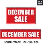 december sale grunge rubber... | Shutterstock .eps vector #280900526