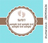 bright baby arrival card shower ... | Shutterstock .eps vector #280904636