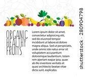 vector illustration of fruit... | Shutterstock .eps vector #280904798