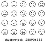 collection of freehand drawing... | Shutterstock .eps vector #280906958