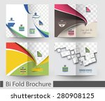 bundle of bi fold mock up  ... | Shutterstock .eps vector #280908125