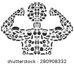 silhouette food icon designed... | Shutterstock .eps vector #280908332