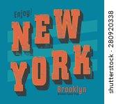 vintage new york typography  t... | Shutterstock .eps vector #280920338