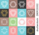 colorful trendy ornaments ... | Shutterstock .eps vector #280923332