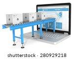 online distribution. industrial ... | Shutterstock . vector #280929218