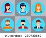 men and women avatar icons for...