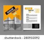 editable a4 poster for design ... | Shutterstock .eps vector #280932092
