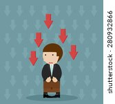 business failure   young worried | Shutterstock .eps vector #280932866