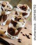 dessert of ice cream and... | Shutterstock . vector #280938752