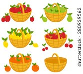 illustration set of fruits in... | Shutterstock .eps vector #280939562