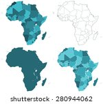 set of the contour border... | Shutterstock . vector #280944062