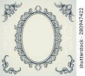 set of decorative vintage... | Shutterstock .eps vector #280947422