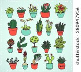 set of colorful hand drawn... | Shutterstock .eps vector #280947956