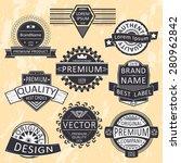 vintage insignias  logotypes... | Shutterstock .eps vector #280962842