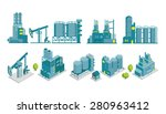set of isometric end 2d flat... | Shutterstock .eps vector #280963412