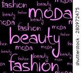 text fashion seamless. vector... | Shutterstock .eps vector #280972475
