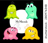 set of funny monsters  microbes ... | Shutterstock .eps vector #280976348
