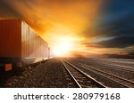 industry container trains... | Shutterstock . vector #280979168