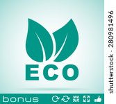 leaves eco icon | Shutterstock .eps vector #280981496