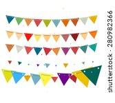 celebration decoration bunting... | Shutterstock .eps vector #280982366
