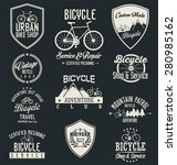 vector bicycle badges and labels | Shutterstock .eps vector #280985162