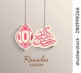 illustration of ramadan kareem... | Shutterstock .eps vector #280998266