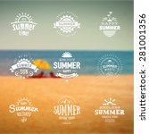 summer holidays labels in... | Shutterstock .eps vector #281001356