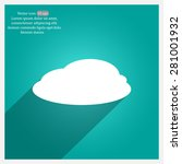 cloud icon  vector illustration.... | Shutterstock .eps vector #281001932