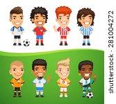 cartoon international soccer... | Shutterstock .eps vector #281004272