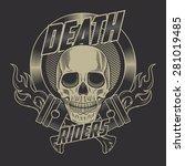 motorcycle label | Shutterstock .eps vector #281019485