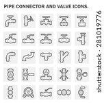 vector icon of steel pipe... | Shutterstock .eps vector #281019776