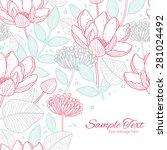 vector modern line art florals... | Shutterstock .eps vector #281024492