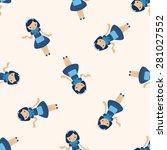 waiter   cartoon seamless... | Shutterstock .eps vector #281027552
