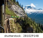 white pass train  alaska  | Shutterstock . vector #281029148