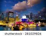 Chicago Skyline With Buckingha...
