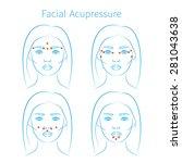 vector illustration  set of... | Shutterstock .eps vector #281043638