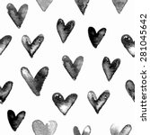 seamless hand drawn pattern... | Shutterstock .eps vector #281045642