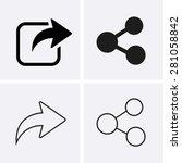 share icons | Shutterstock .eps vector #281058842