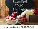 chalkboard with inscription... | Shutterstock . vector #281063042